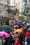 Regnig dag i Salzburg Royaltyfria Foton