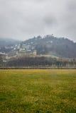 Regnig dag i Schweitz Arkivfoto