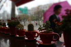 Regnig dag på Anguk (Seoul, Sydkorea) Royaltyfri Fotografi