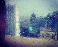 Regnig dag på Manila Royaltyfria Bilder