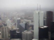 Regnig dag Toronto Arkivfoto