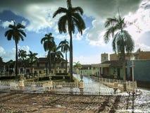 Regnig eftermiddag i staden Trinidad, Kuba Royaltyfria Bilder