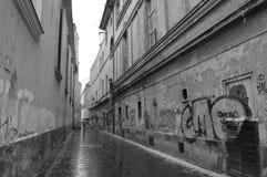 Regnig gata Fotografering för Bildbyråer