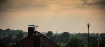 Regnig gryning Fotografering för Bildbyråer