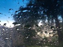 regnig morgon Arkivbild