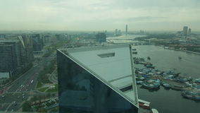 Regnig morgon i Dubai Arkivbilder