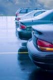 regnig mycket parkering Arkivfoton