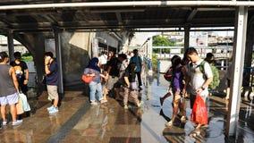 Regnig säsong i Bangkok Arkivfoton