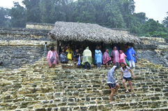 Regnig sist dag av Mayakalendern Royaltyfria Bilder