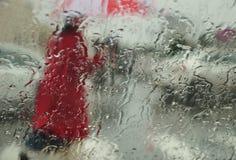 Regnig stad. Royaltyfri Bild