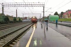 Regnig station Royaltyfri Bild