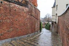 Regnig trappa i Liege Fotografering för Bildbyråer