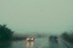 Regnig väg 2 Royaltyfri Foto
