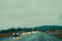 Regnig väg 5 Fotografering för Bildbyråer