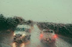 Regnig väg 6 Arkivbild