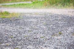 Regnig våt jordning Arkivbild