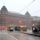 Regniga Helsingfors Arkivbild