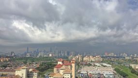 Regniga moln Royaltyfri Foto
