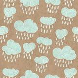 Regniga moln Arkivfoton