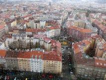 Regniga Prague Royaltyfri Fotografi