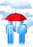 Regnigt dagskydd Arkivfoto