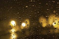 regnigt fönster Royaltyfria Foton