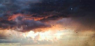 regnigt fönster Arkivfoton