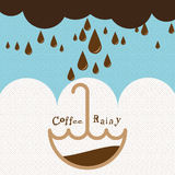 Regnigt kaffe royaltyfri illustrationer