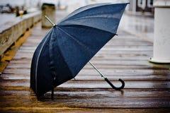 Regnigt paraply Arkivfoton