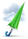 regnigt paraplyväder för stängda oklarheter vektor illustrationer