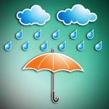 regnigt säsongparaply Arkivbild