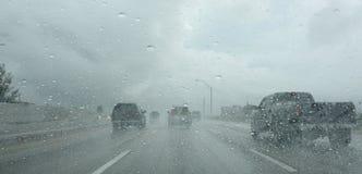 regnigt väder Arkivbilder