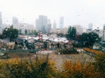 regnigt väder Royaltyfria Bilder
