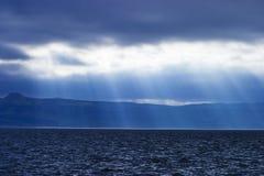 regnigt väder för kustlinje Royaltyfria Bilder