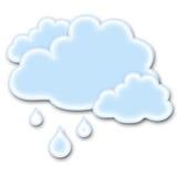 regnigt väder för symbol Arkivbild