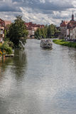 Regnitz in Bamberg stock photos
