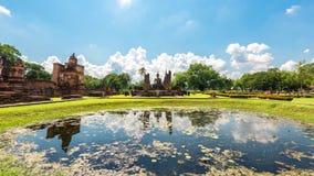 Regno antico della Tailandia del parco storico di Sukhothai del passato della Tailandia della Tailandia Fotografia Stock
