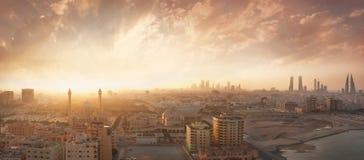 Regno della vista di tramonto del Bahrain Fotografie Stock Libere da Diritti