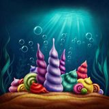Regno subacqueo di fantasia illustrazione di stock