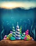 Regno subacqueo di fantasia illustrazione vettoriale