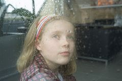 regnstopp till att vänta royaltyfria foton