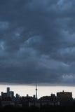 Regnstorm över Toronto Royaltyfria Bilder