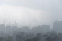 Regnstorm över Toronto Arkivbild