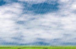 Regnstormbakgrunder i molnigt väder vektor illustrationer