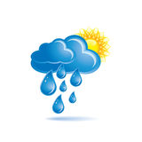 regnsun royaltyfri illustrationer