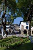 Regocijo Piazza und Straße, Cusco, Peru Lizenzfreies Stockfoto