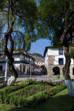 Regocijo Plaza and street, Cusco, Peru Royalty Free Stock Photo