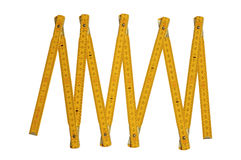 Regola del carpentiere giallo Fotografia Stock Libera da Diritti