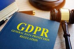 Regolamento generale GDPR di protezione dei dati fotografia stock