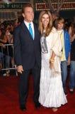 Regolatore Arnold Schwarzenegger, Maria Shriver immagine stock libera da diritti